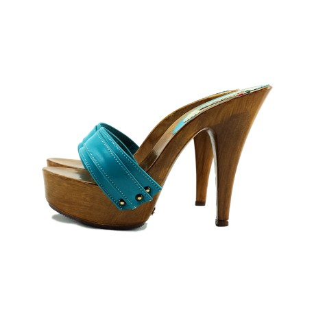 TURQUOSE CLOGS MADE IN ITALY