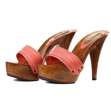CORAL CLOGS made in italy