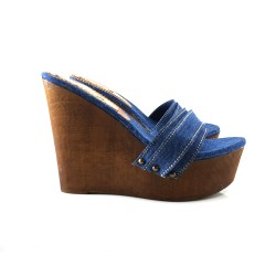 WEDGE CLOGS  IN JEANS simple