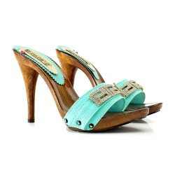 ZAPATOS CON STRASS TURQUOSE