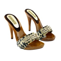 CLOGS WITH STRASS LEOPARDAT