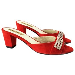SANDAL SUEDE RED
