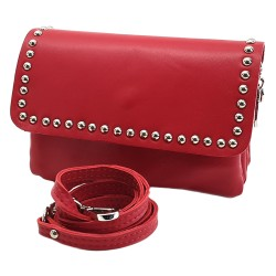 RED SHOULDER BAG IN LEATHER