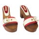 CHAUSSURES BICOLORE ROUGE