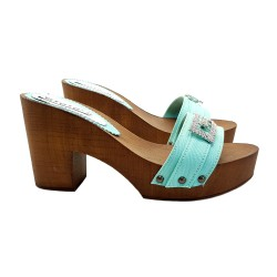 CLOGS EMERALD WITH COMFY HEEL 9
