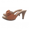 PEACH COLOURED HEEL CLOGS