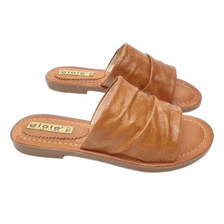CAMEL LOW SANDAL ECO-LEATHER