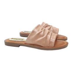 PINK LOW SANDAL ECO-LEATHER