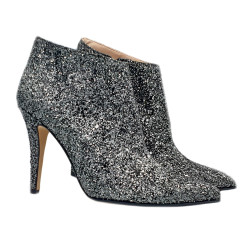 SPARKLE BLACK ANKLE BOOTS