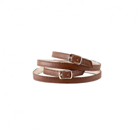 LEATHER BROWN STRAPS FOR CLOGS