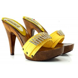 YELLOW STRASS SHOES