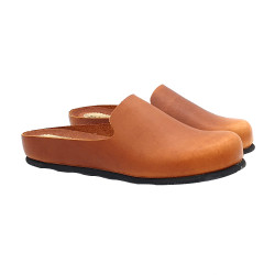 FLAT SANDALS IN LEATHER BROWN