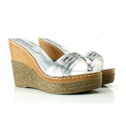 SANDALS WOMAN SILVER