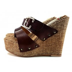 CLOGS HIGH HEEL LEATHER