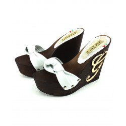 CLOGS WEDGE LEATHER