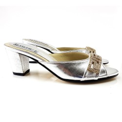 SANDAL LEATHER SILVER